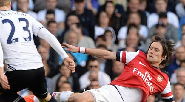 Tomas Rosicky scored the only goal of the game