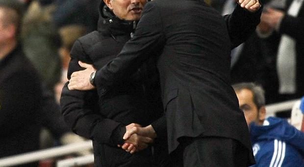 Jose Mourinho, left, and Arsene Wenger, right, go head-to-head on Saturday lunchtime