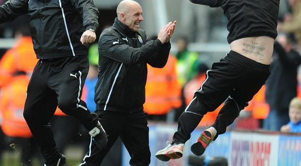 Papiss Cisse's late goal sparked wild celebrations among Newcastle's staff