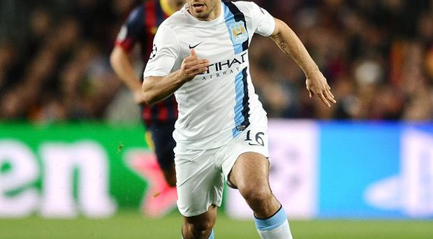 Sergio Aguero has not featured since Manchester City's defeat at the Nou Camp