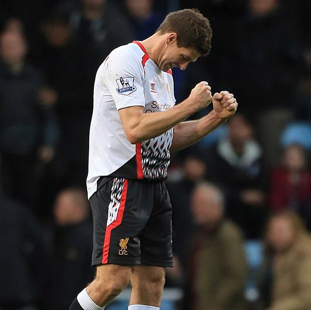 Steven Gerrard is closing in on his first Premier League winner's medal