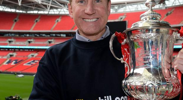 Ray Parlour gets his hands on the FA Cup again . Parlour was the man of the match in Arsene Wenger's first FA Cup win in 1998 - 7/4/14 - Picture : Frank Coppi*** Picxture is free for use ***