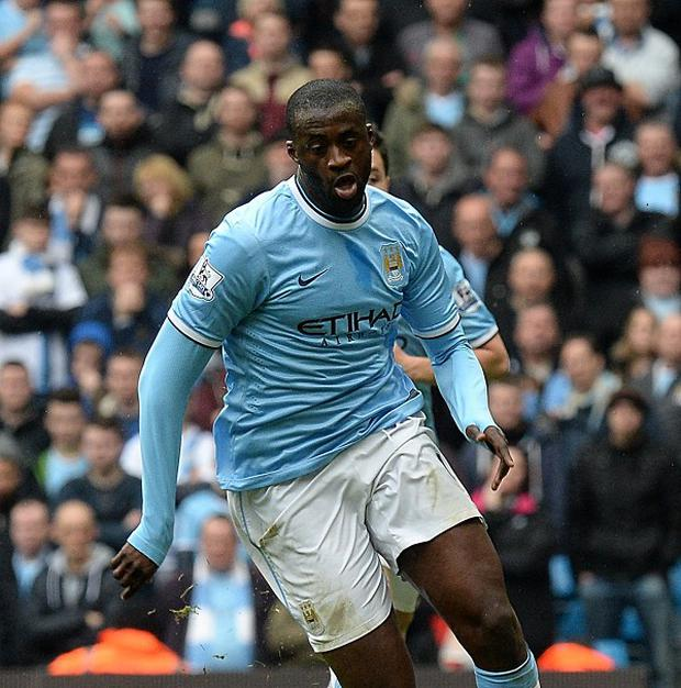 Manchester City midfielder Yaya Toure could be out of action for up to a fortnight
