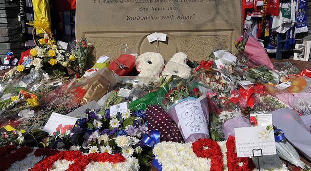 Floral tributes were left at Hillsborough and Anfield