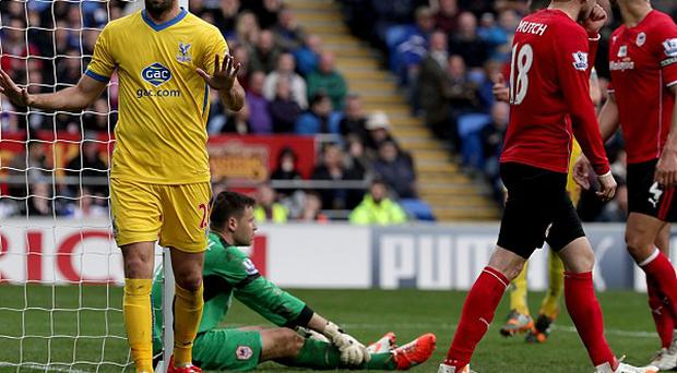 Joe Ledley scored Crystal Palace's second goal in their controversial 3-0 win over Cardiff