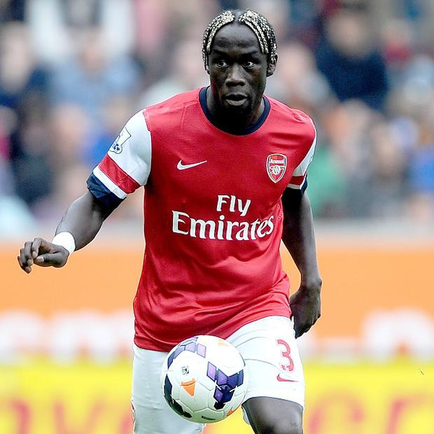 Arsenal defender Bacary Sagna is out of contract in the summer.