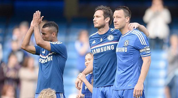 Chelsea's Ashley Cole, Frank Lampard and John Terry, pictured from left to right, face an uncertain summer