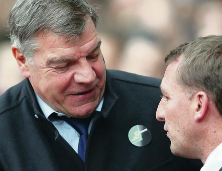 Big outsiders: Liverpool manager Brendan Rodgers will have to depend on big Sam Allardyce's West Ham side to do him a favour