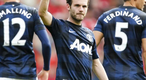 Juan Mata rescued a point for Manchester United