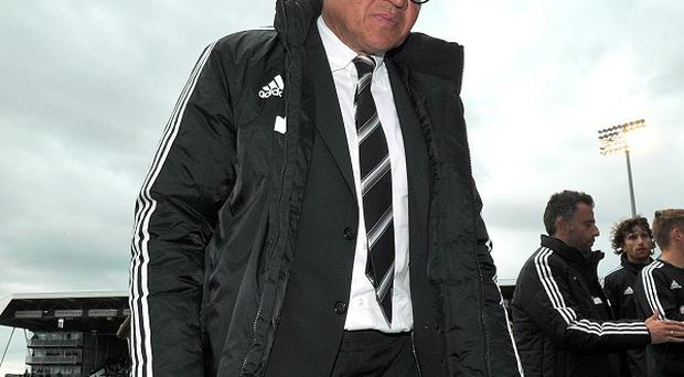 Fulham manager Felix Magath is disappointed with his side's lack of fight