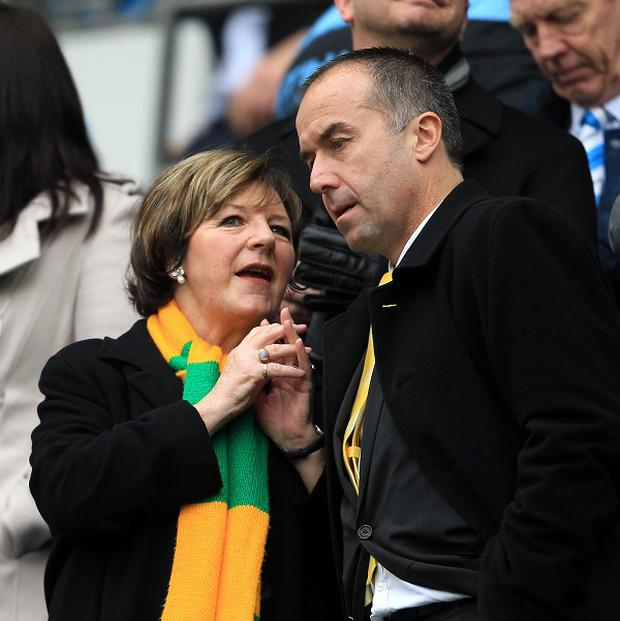 Delia Smith, left, and David McNally are hunting for Norwich's next manager