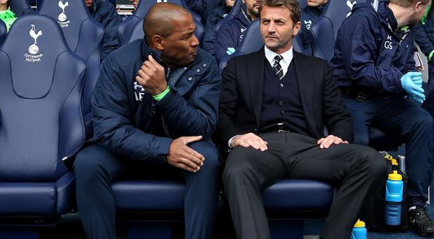 Les Ferdinand, left, worked closely with former Tottenham head coach Tim Sherwood