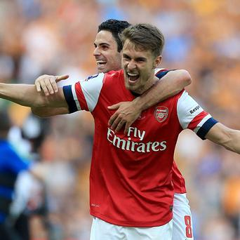 Aaron Ramsey hopes to be celebrating more success in 2014/15