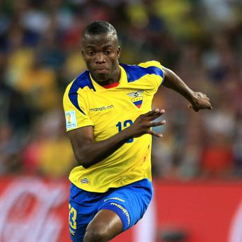 Enner Valencia scored all three of Ecuador's goals in the 2014 World Cup