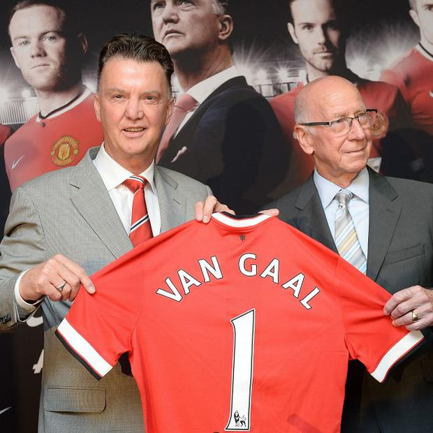 Louis van Gaal, left, has hailed his Manchester United job as 'a great challenge'