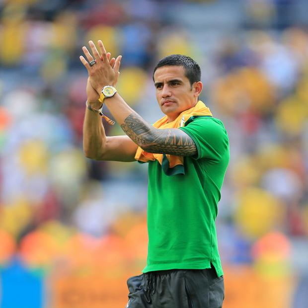 Tim cahill led a spirited Australia showing at this summer's World Cup