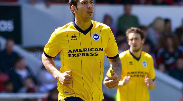 Leicester have completed the signing of Leonardo Ulloa from Brighton