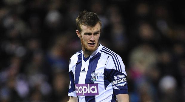 Chris Brunt will lead West Brom into the new season
