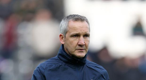 Caretaker boss Keith Millen, pictured, hailed Tony Pulis as 'a great leader'