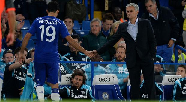 Jose Mourinho, right has admitted he could have signed Diego Costa, left, when he was a player at Braga
