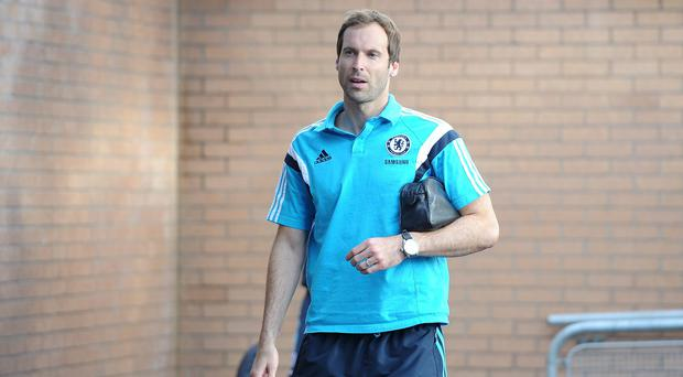Petr Cech was left out of the Chelsea starting line-up for their match against Burnley