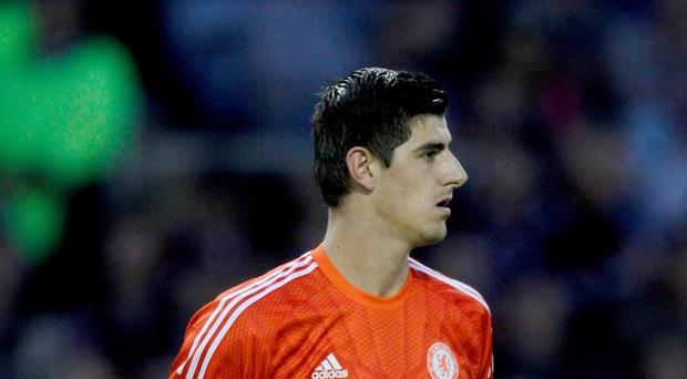 Thibaut Courtois, pictured, hopes he remains as Chelsea number one and that Petr Cech stays at the club