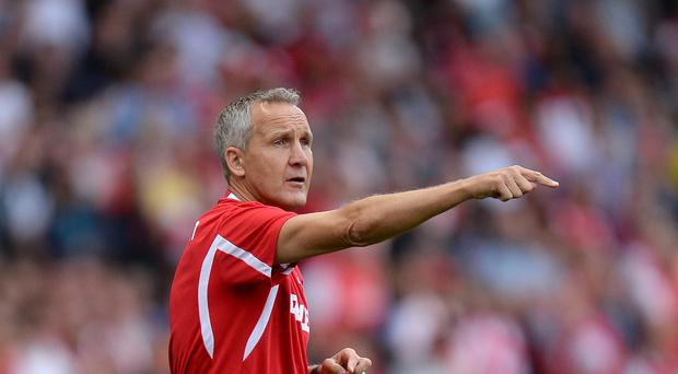 Keith Millen, pictured, insists the loss of Iain Moody is a blow for Crystal Palace