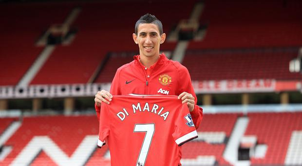Cristiano Ronaldo is confident Angel di Maria, pictured, can succeed in the Manchester United number seven shirt
