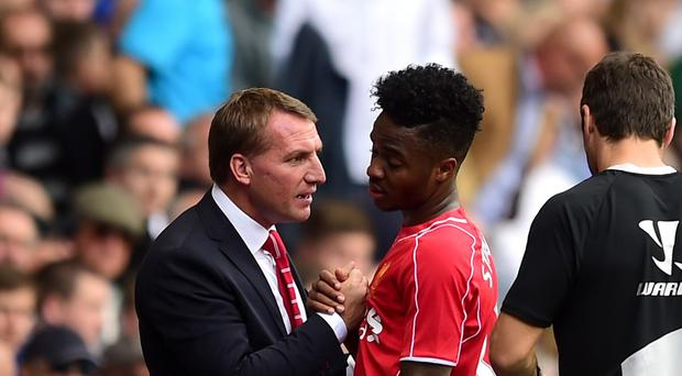 Raheem Sterling, centre, was at the heart of everything Liverpool did well
