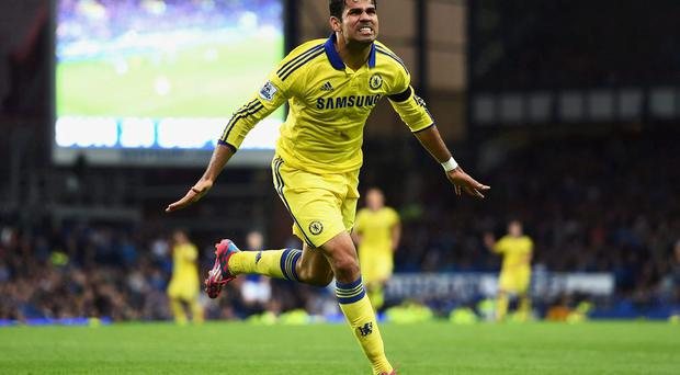 Aiming high: Diego Costa is targeting another league crown as his goals have helped Chelsea to a good start in the Premiership