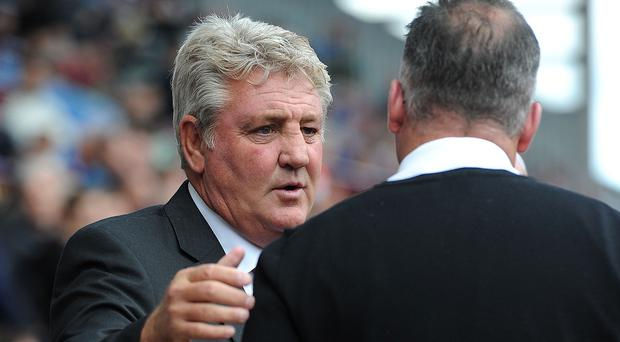 It could be a busy day for Steve Bruce, left, and Paul Lambert, right