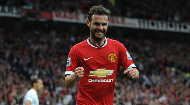 Juan Mata scored Manchester United's fourth in their emphatic 4-0 win