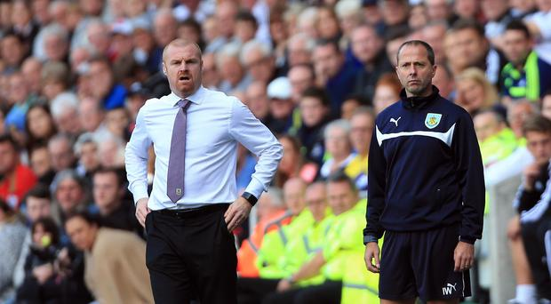 Burnley manager Sean Dyche, left, expects his side to make life difficult for Sunderland