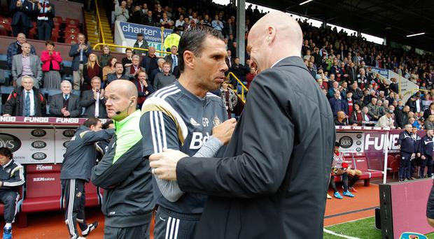 Sunderland manager Gus Poyet, left, was underwhelmed by his side's 0-0 draw at Burnley