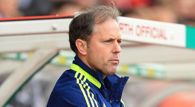 Stoke assistant Mark Bowen, pictured, brushed off Manuel Pellegrini's recent comments about Stoke