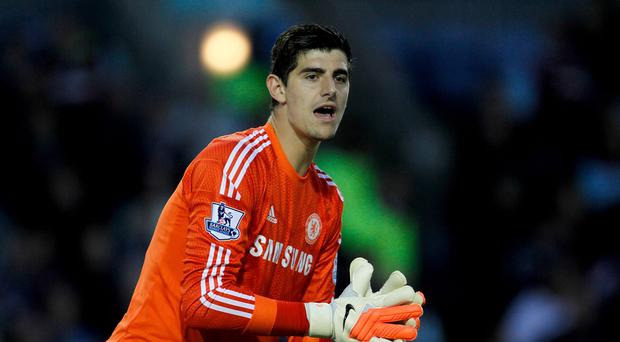 Brad Guzan believes Thibaut Courtois, pictured, deserves to be first choice at Chelsea
