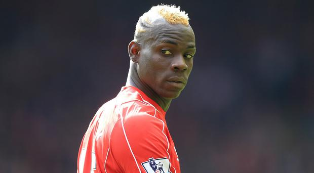 Mario Balotelli appeared in his first Merseyside derby