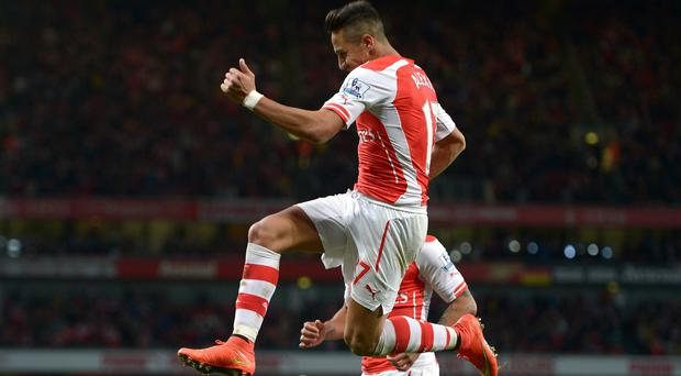 Alexis Sanchez starred for Arsenal