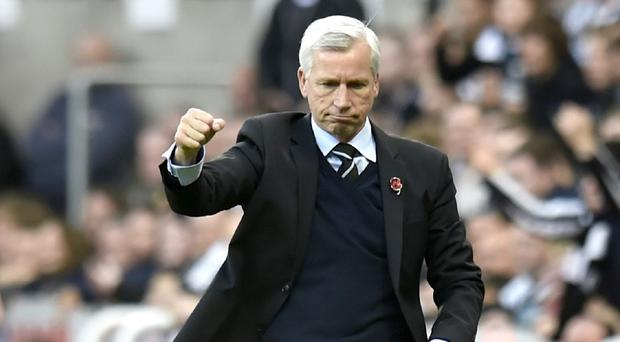 Newcastle manager Alan Pardew was contemplating a night on the Toon after guiding his side to a fourth successive victory