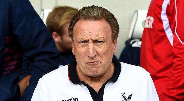 Neil Warnock, pictured, distanced himself from Mark Clattenburg's disciplinary sanction