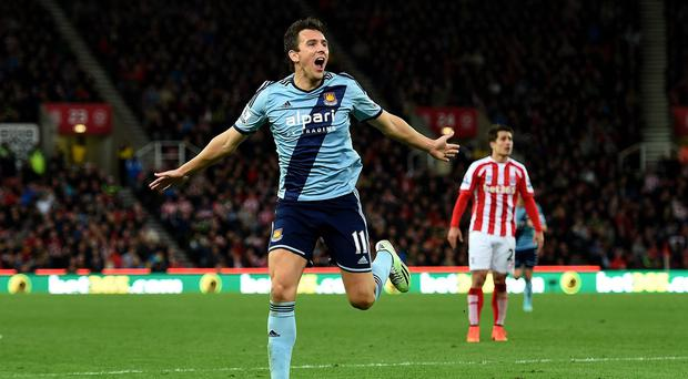 Stewart Downing provided an assist and a goal in West Ham's 2-2 draw at Stoke
