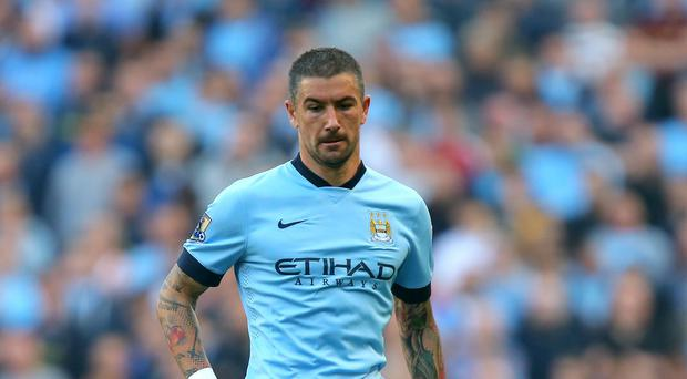 Aleksandar Kolarov was injured in the warm-up prior to Sunday's derby victory over Manchester United