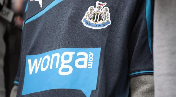 Newcastle's replica kits for children will not have the Wonga logo on them from the 2016/17 season