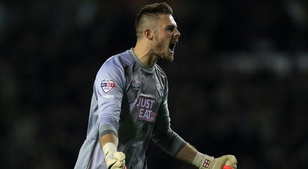 Jack Butland is enjoying a successful loan spell with Derby