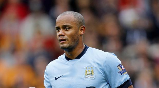 Captain Vincent Kompany is back in training at Manchester City