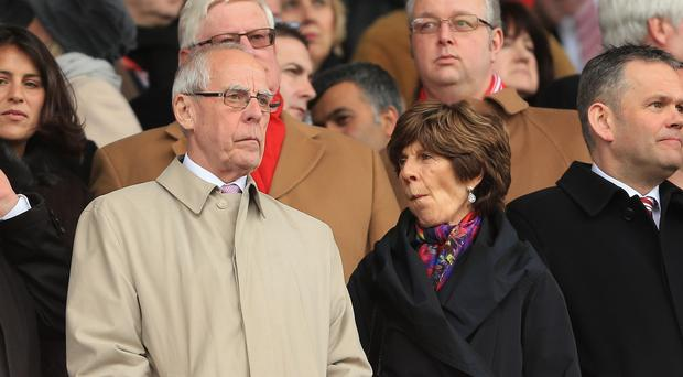 Stoke chairman Peter Coates, left, has until 6pm on Monday to respond to the FA charge