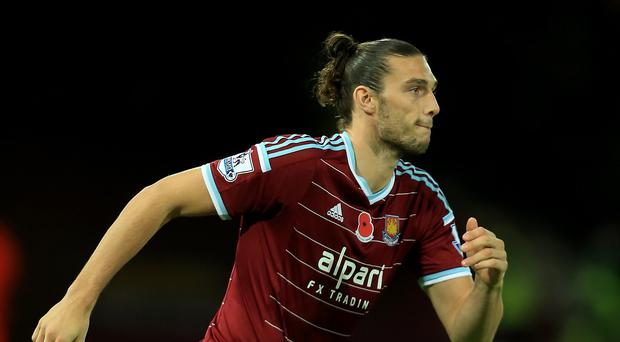 Forward Andy Carroll is back in contention for West Ham