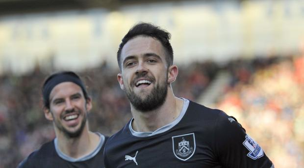 Burnley's Danny Ings, right, is in fine scoring form.