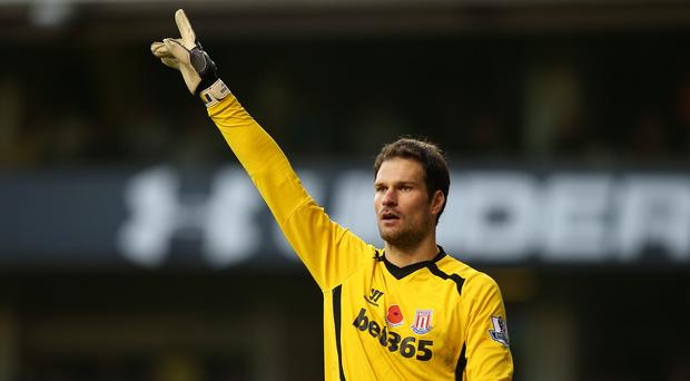 Asmir Begovic is one of a number of Stoke players hit by a virus