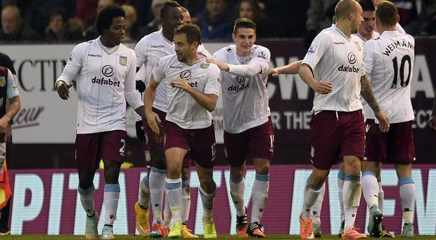 Joe Cole, third from left, was praised by Paul Lambert after the 1-1 draw at Turf Moor